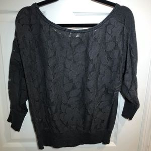 American Eagle grey sweater with lace back
